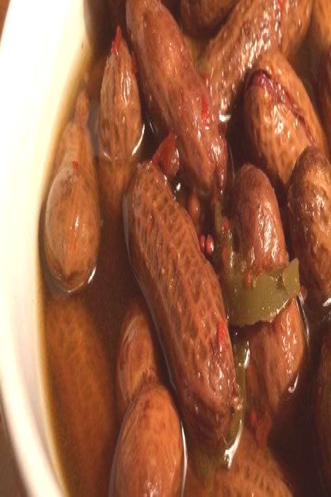 Rachaels Superheated Cajun Boiled Peanuts Recipe - Raw peanuts in their shells simmer in a salty,