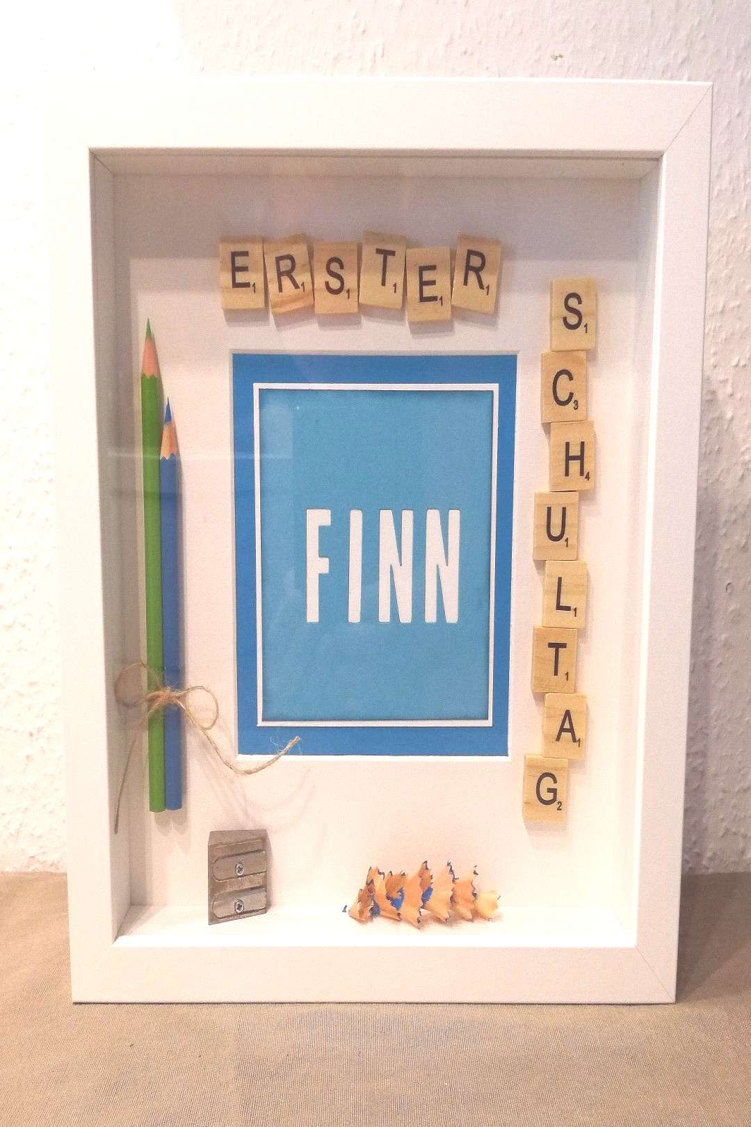 Ribba frame schooling, first day of school framed. Memories, pens - Ribba frame schooling, first d
