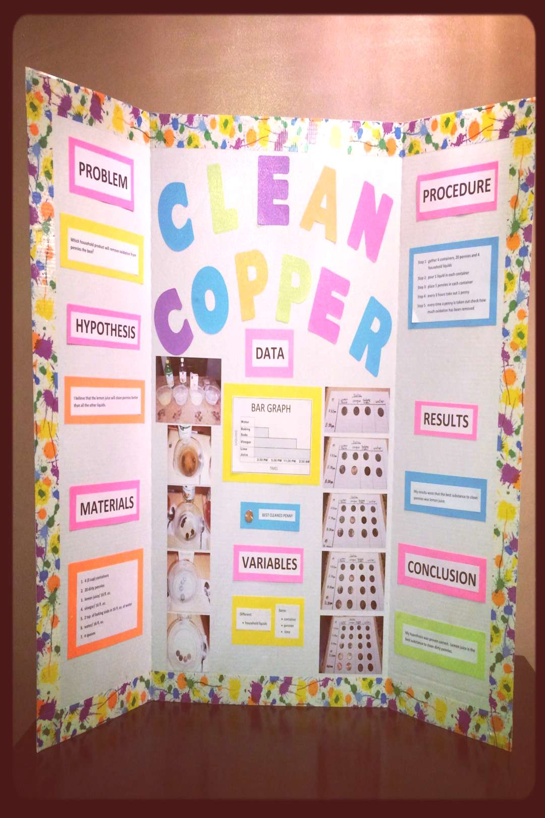 Science fair project - Clean Copper with pennies | science - - Science fair project – Clean Copp