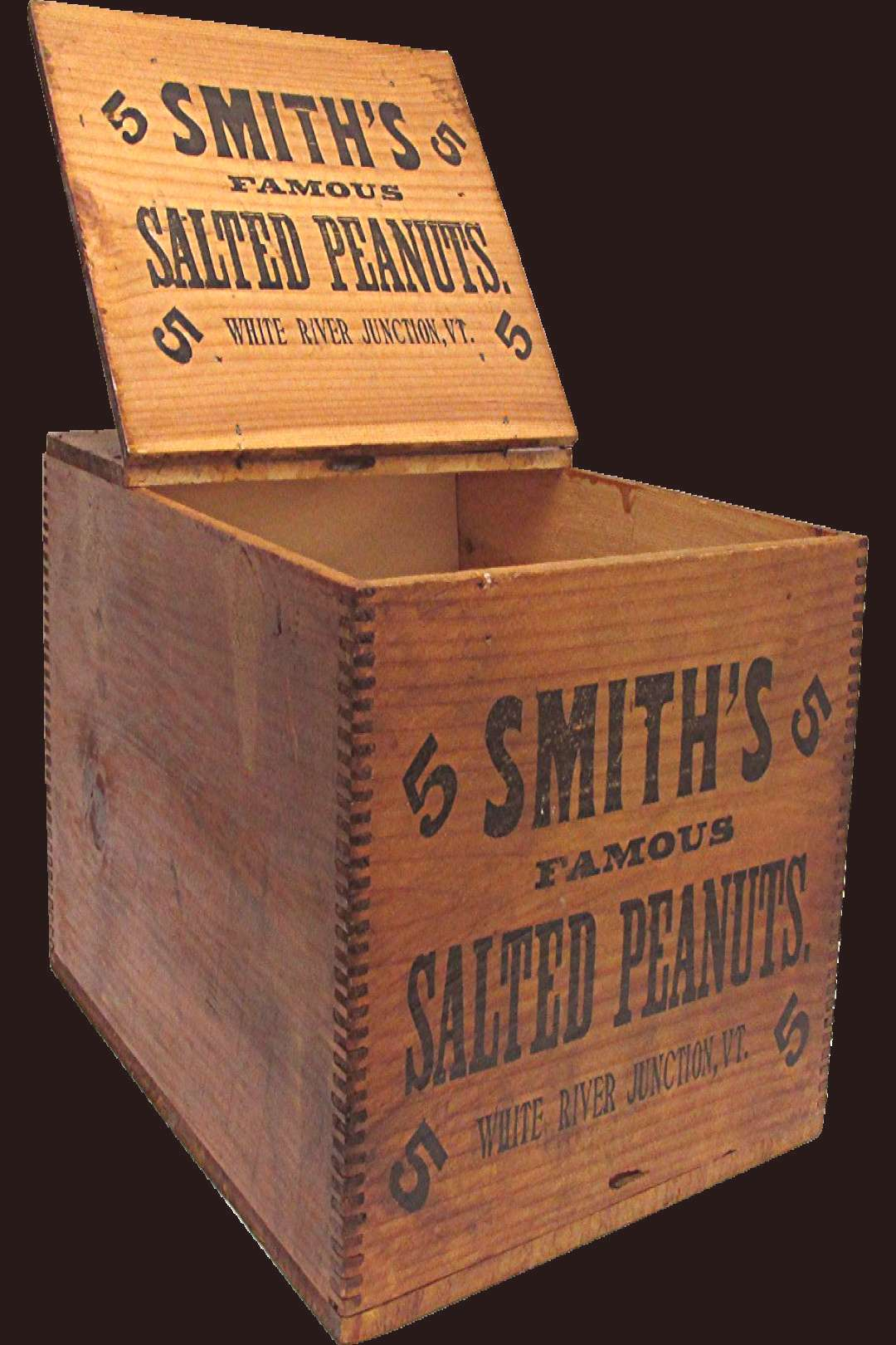 Smiths Peanuts Wood Advertising Box 9907 Removed - Smiths Peanuts Wood Advertising Box -