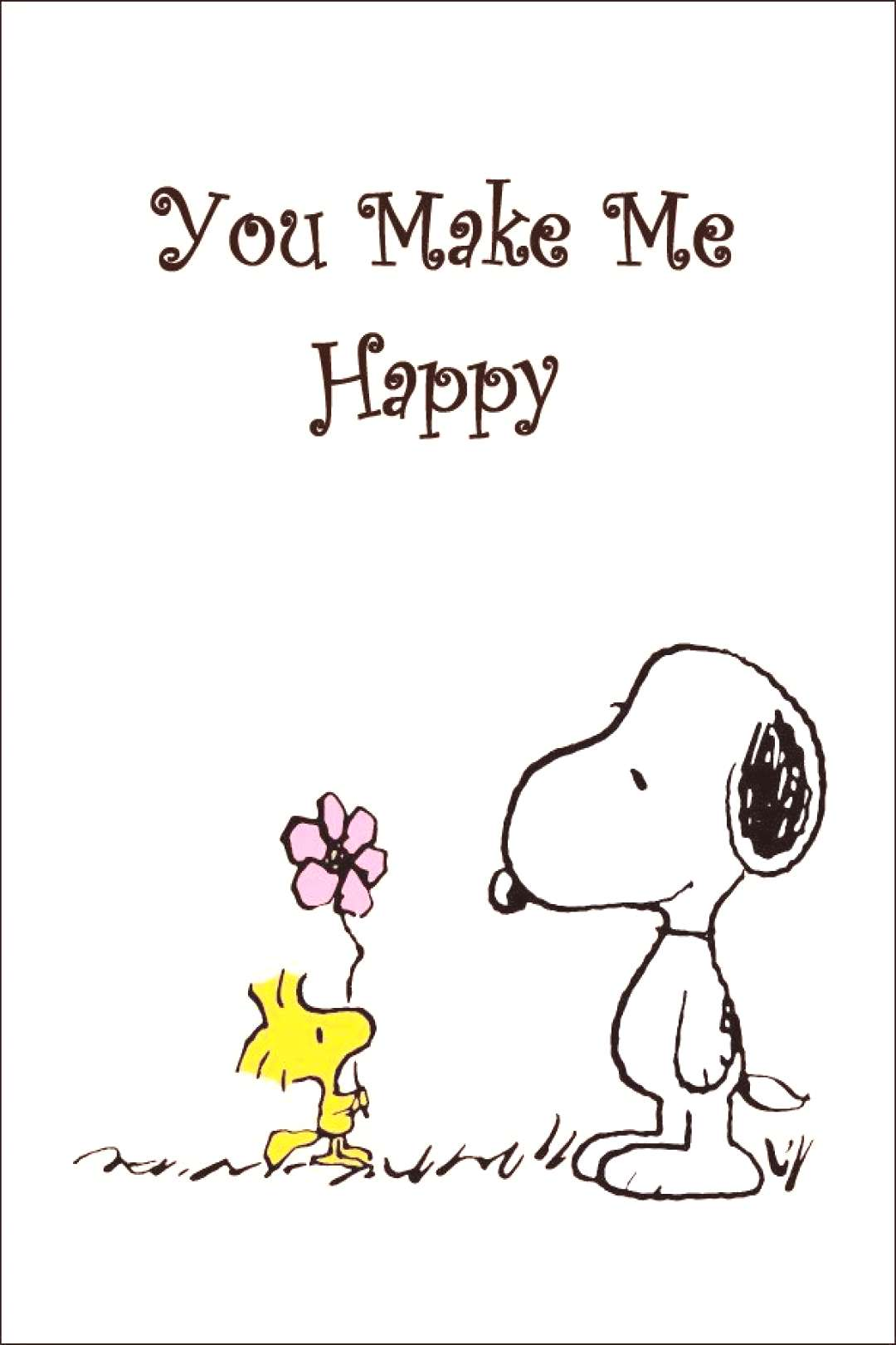 Snoopy And Woodstock Collectible Peanuts quotYou Make Me Happyquot Stand-Up Display - Other