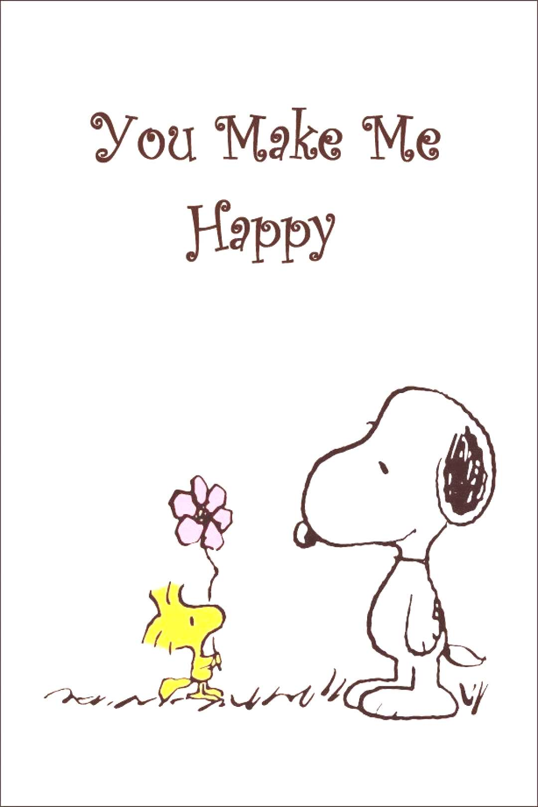 Snoopy And Woodstock Collectible Peanuts quotYou Make Me Happyquot Stand-Up Display - Other...