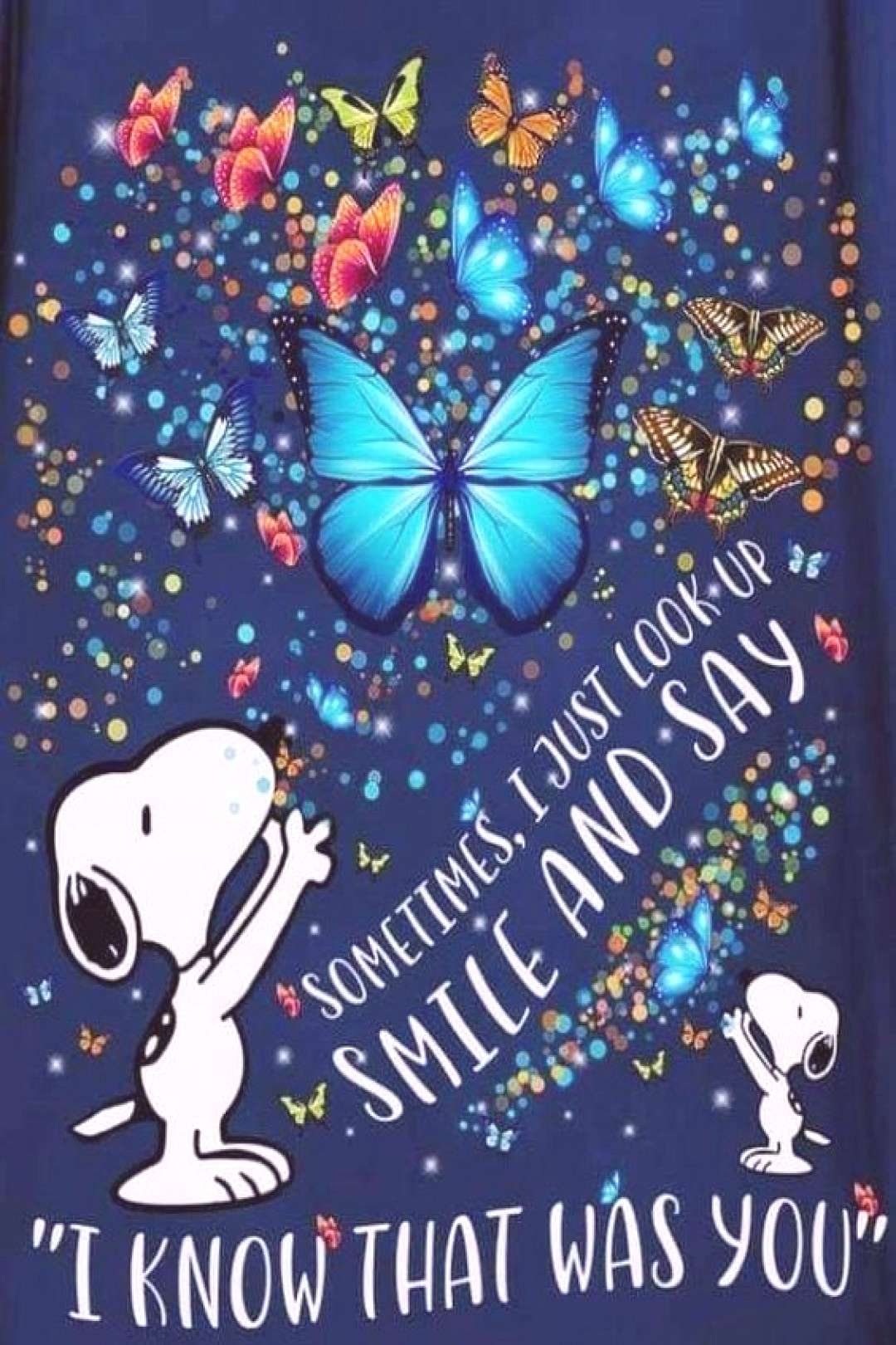 Snoopy Butterflies - I just love this image I found on Pinterest. Very colorful. And I simply love