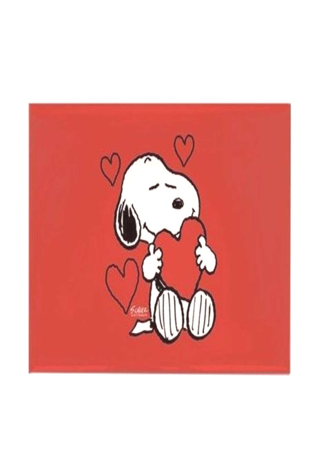 Snoopy Valentine's Day Rectangle Magnet Peanuts: Snoopy Heart Magnets by SnoopyStore - CafePress