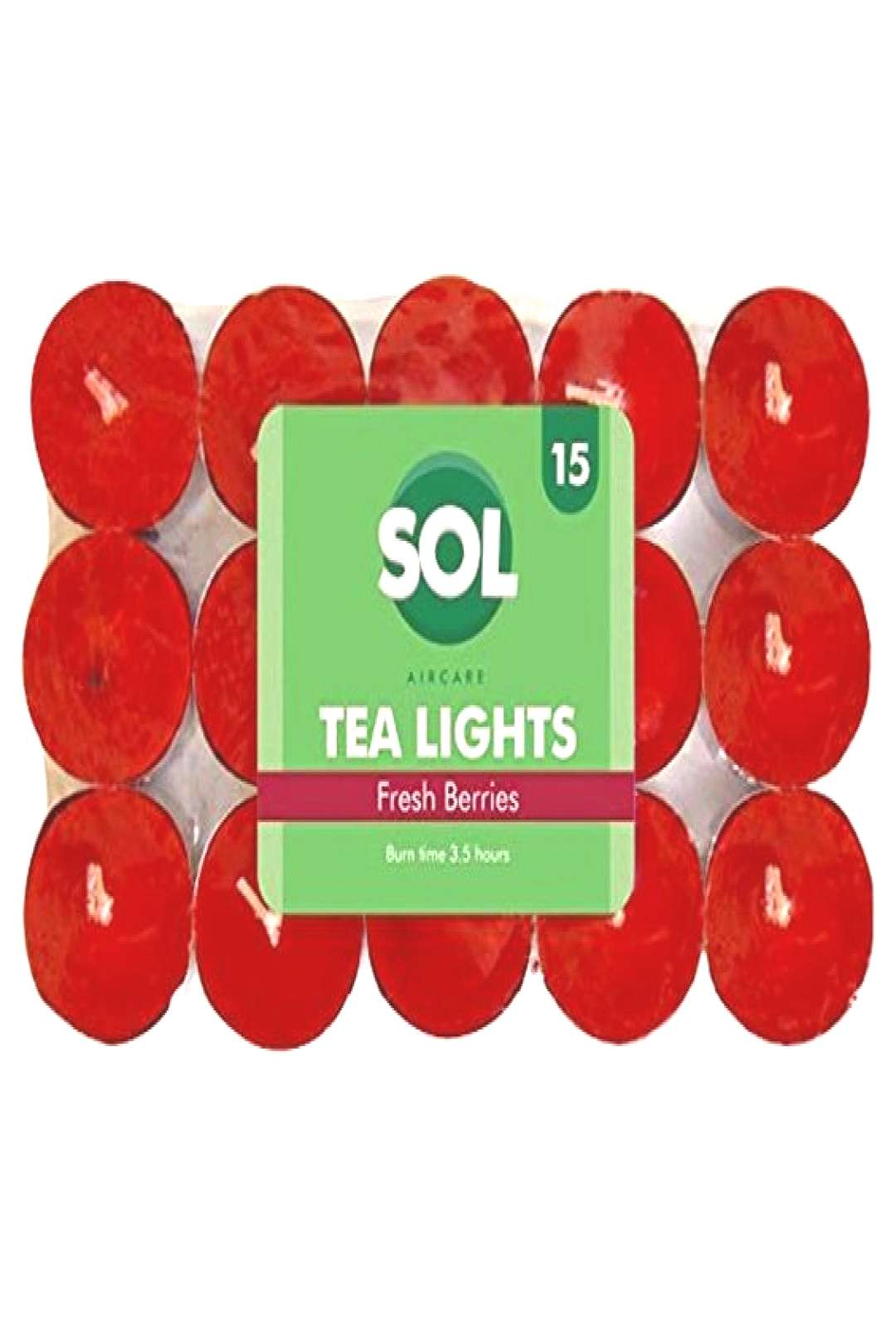 Sol Scented Tea Light Candles 15 Pack | Variety of Fragrances Fresh Berries Supplies Pencils-Writin