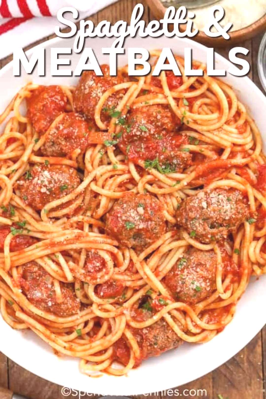 Spaghetti and Meatballs Family Favorite - Spend With Pennies#family