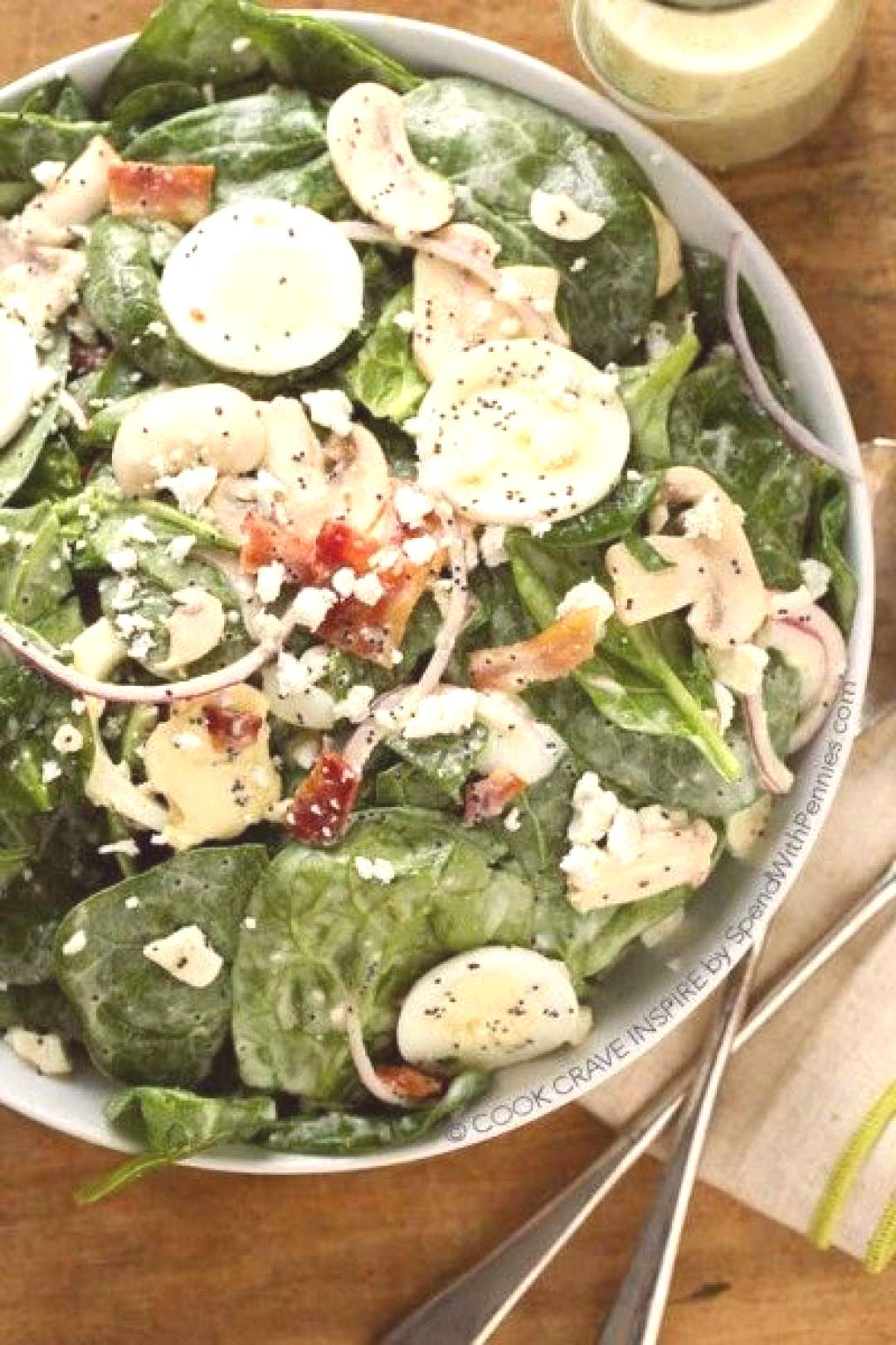 Spinach Salad with Creamy Poppy Seed Dressing - Spend With Pennies,This Classic Spinach Salad... Sp