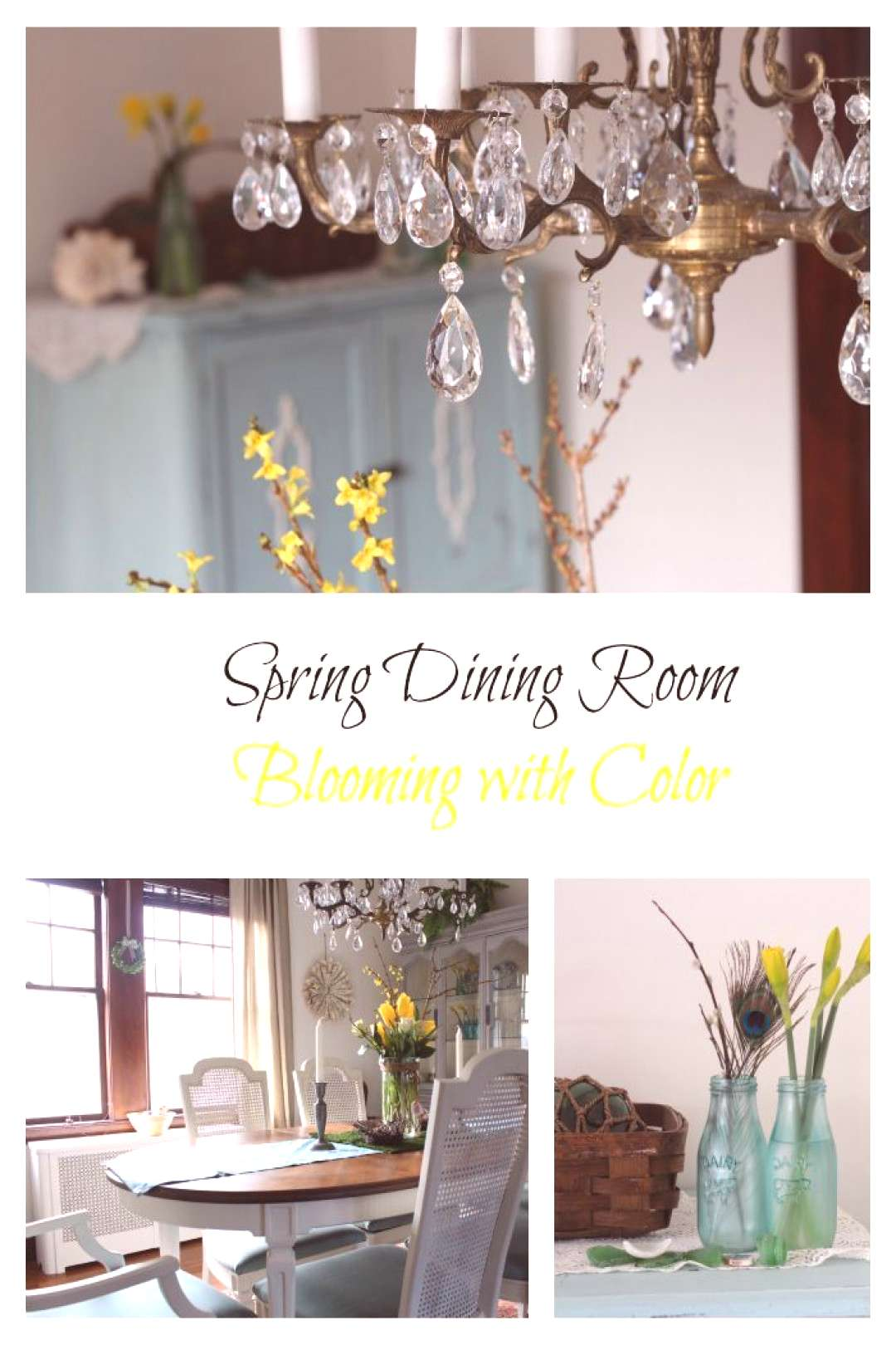 Spring Dining Room - Finding Silver Pennies#dining