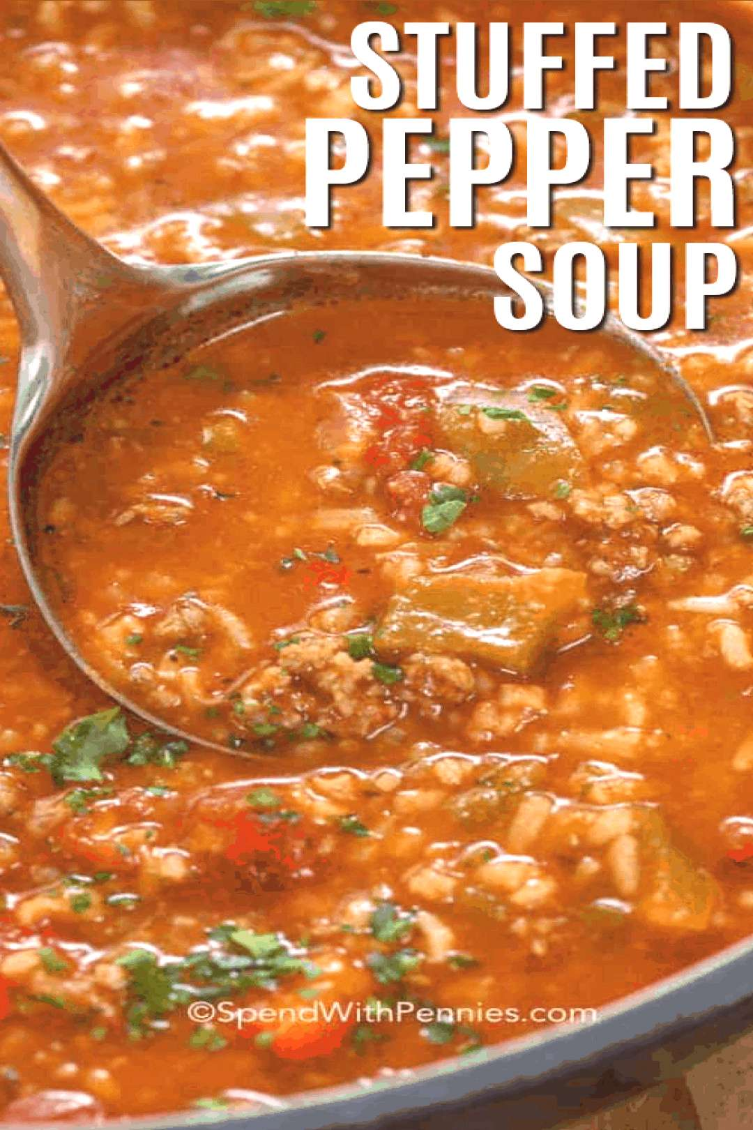 Stuffed Pepper Soup - Spend With Pennies | | Stuffed Pepper Soup is an easy soup recipe. In this f