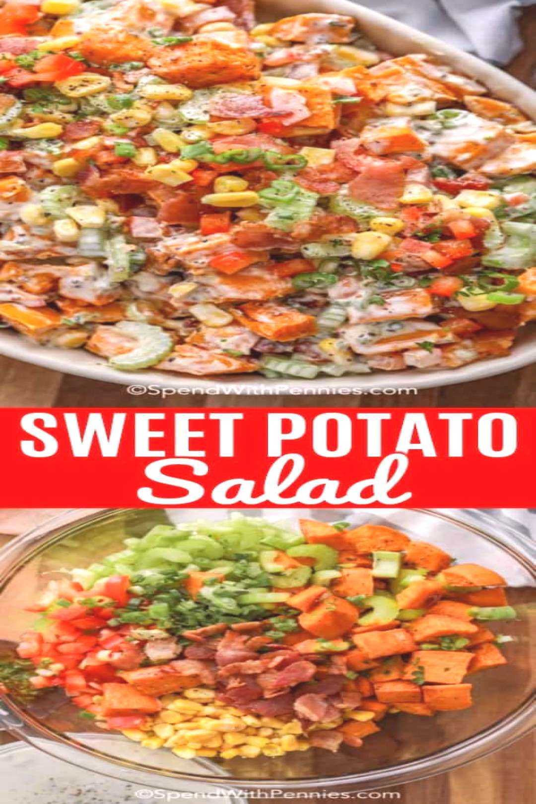 Sweet Potato Salad {Potluck Fav!} - Spend With Pennies,Roasted sweet potato salad is the perf... Sw