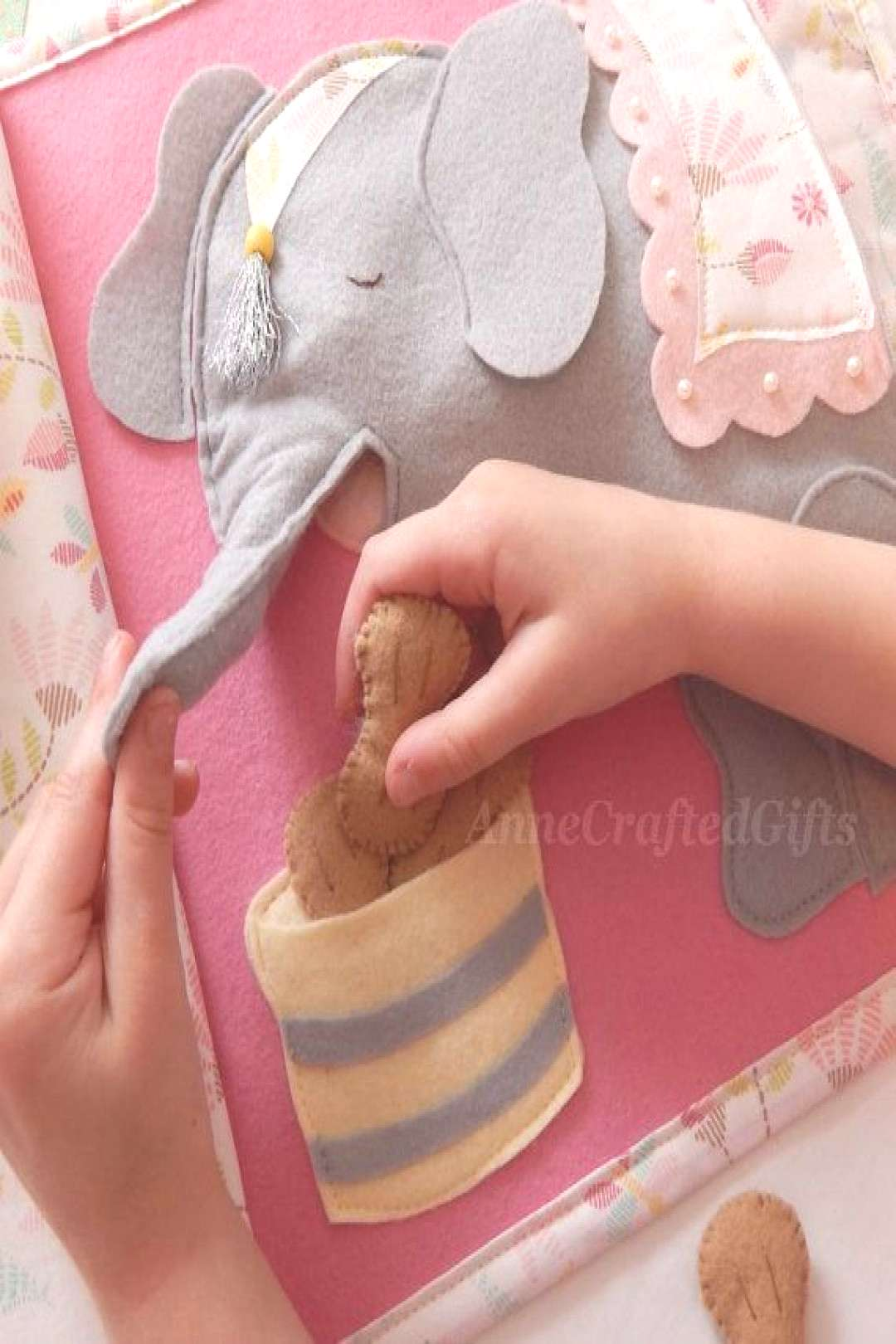 The elephant has five peanuts in his food barrel that he needs ... - Diy Baby#baby