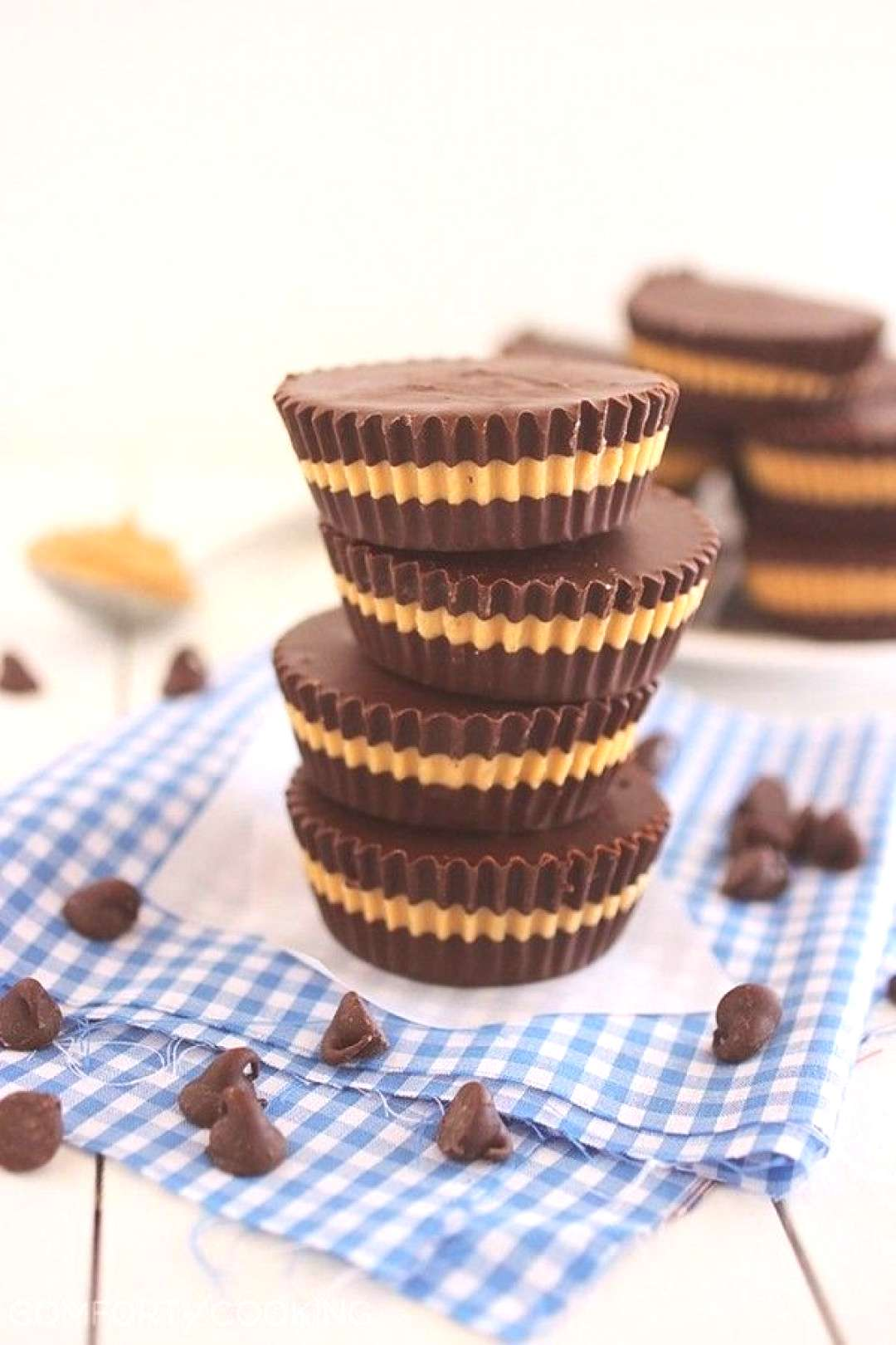 These 4-ingredient Homemade Reeses Peanut Butter cups are fun to make, super creamy, and melt-in-y