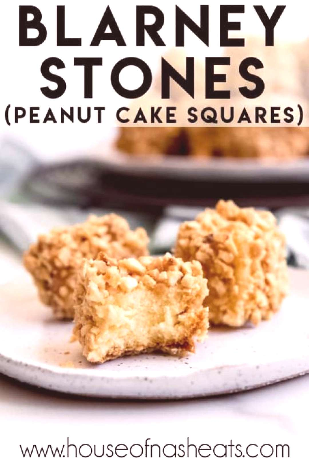 These Blarney Stones [aka Peanut Cake Squares] are salty-sweet bite-sized cakes that are a fun and