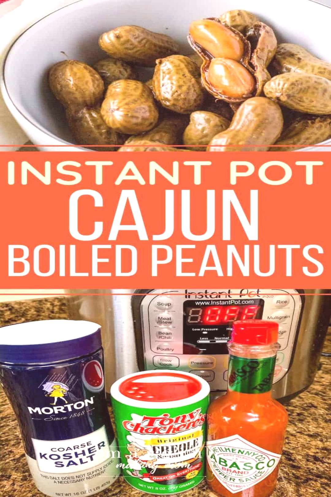 These Instant Pot Cajun boiled peanuts are perfect for those who like to take a walk on the spicy s