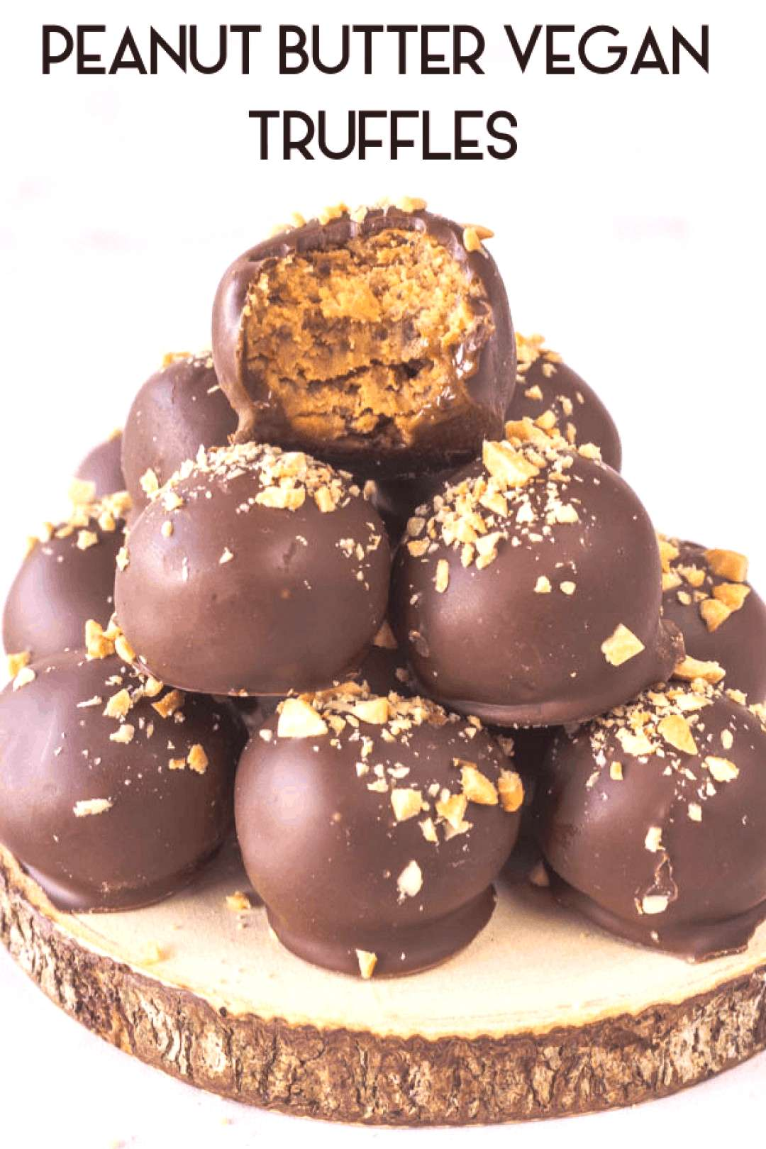 These Peanut Butter Vegan Truffles are paleo, gluten-free, refined sugar free, and absolutely addic