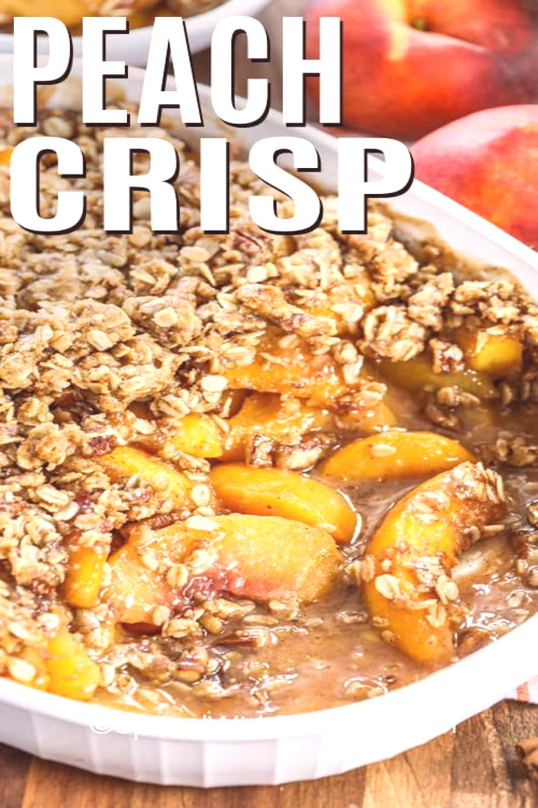 This easy homemade peach crisp recipe is always a hit with my family and friends. Made with fresh j