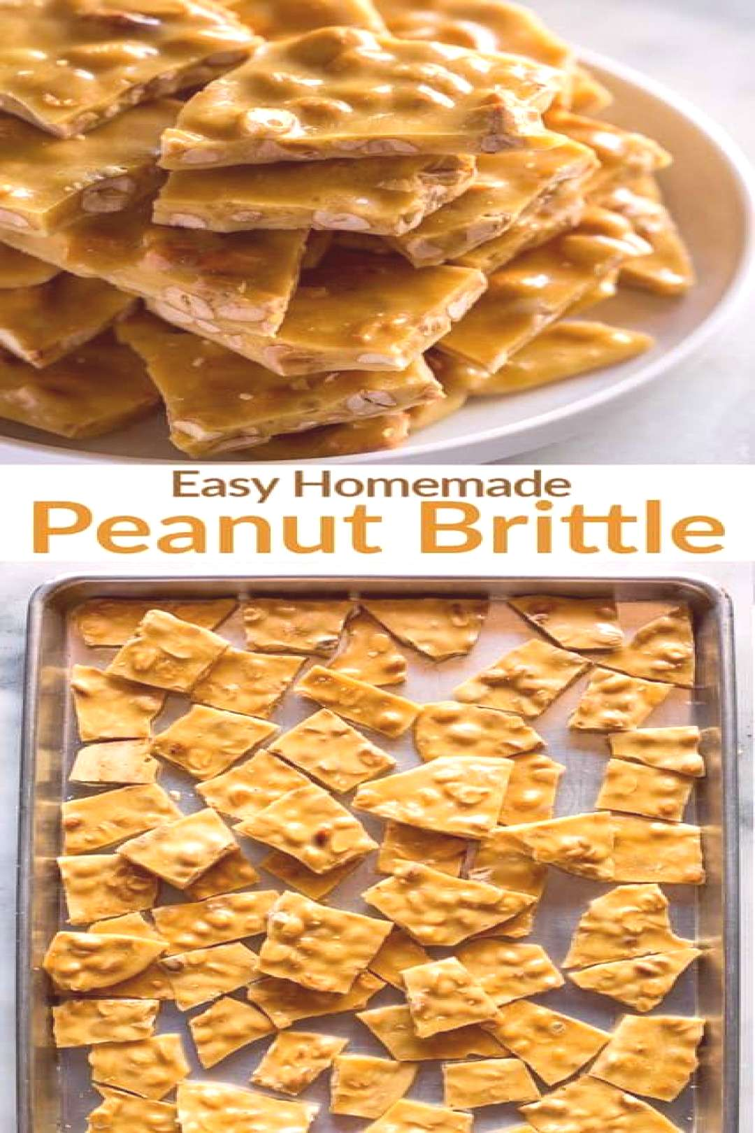 This easy homemade Peanut Brittle is an old-fashioned sweet, hard candy made on the stovetop with s
