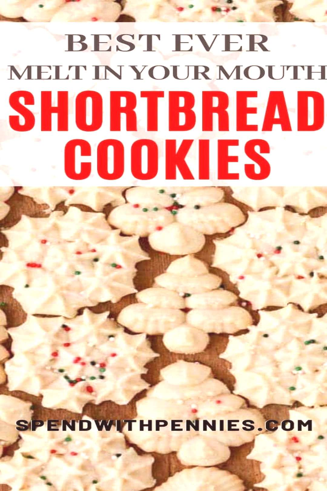 This easy shortbread cookie recipe is a Christmas classic. They are soft, buttery, melt in your mou