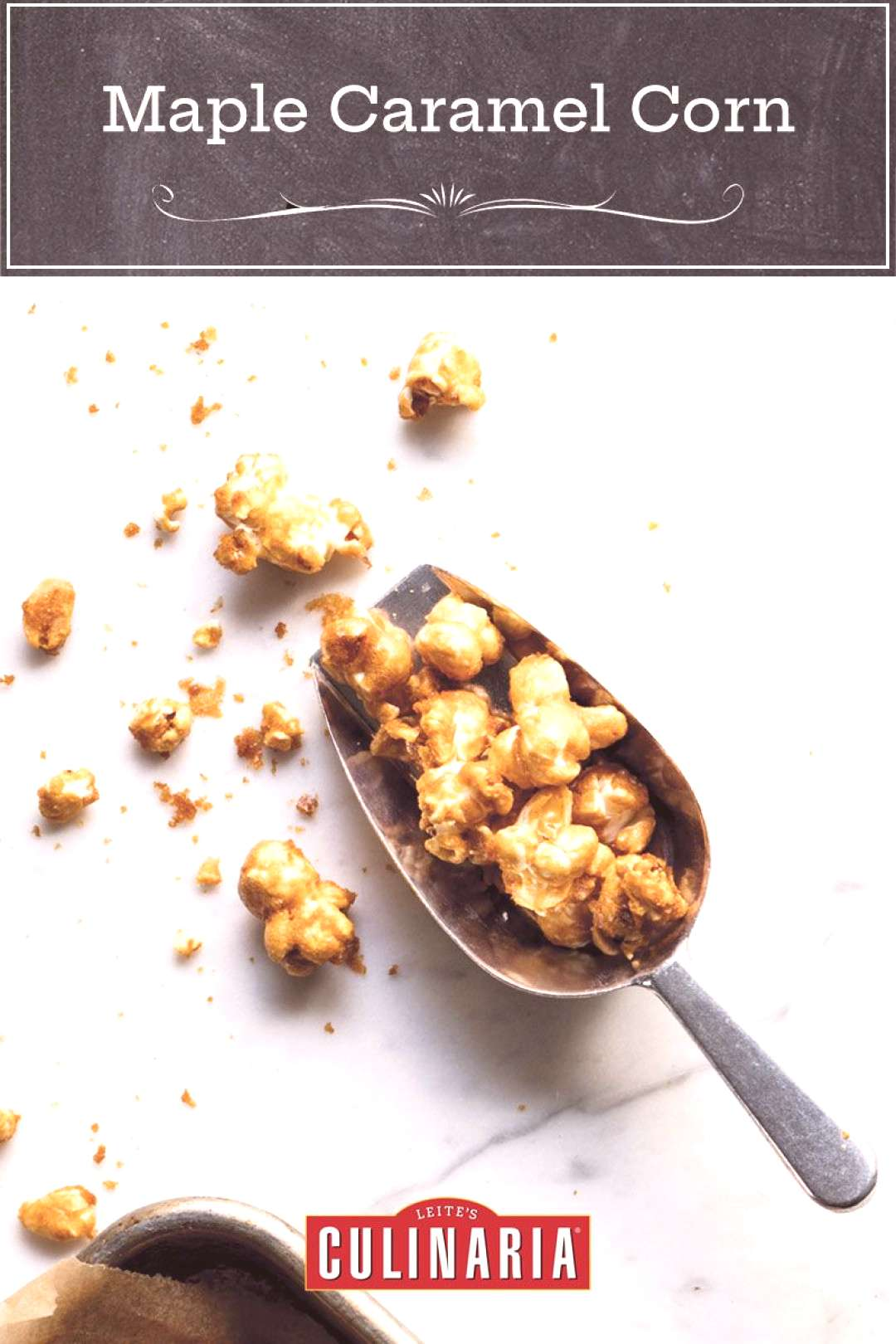 This maple caramel corn with peanuts is like Cracker Jack, except it tastes better and there's no p