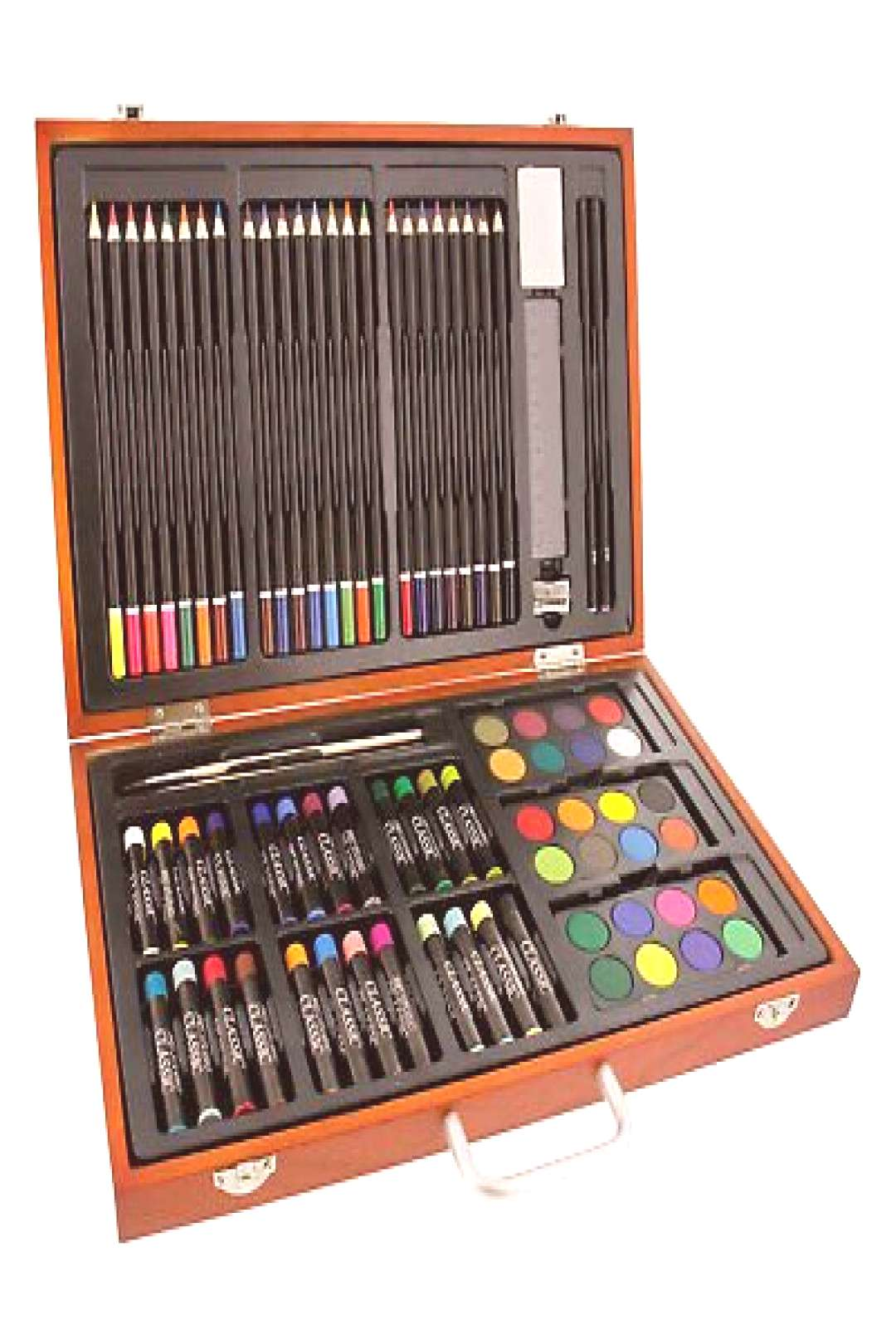 US Art Supply 82 Piece Deluxe Artist Studio Creative Wood Box Set Colored Pencil