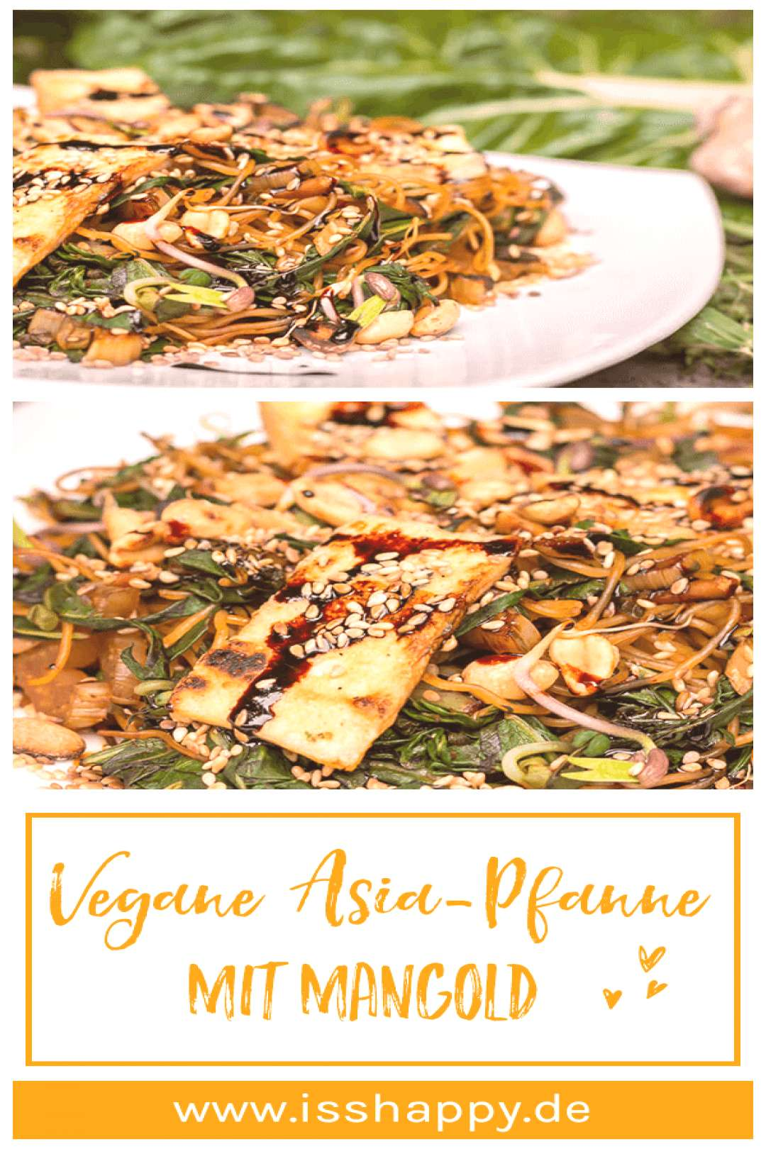 Vegan chard recipe with rice noodles & peanuts - simple & healthy#chard