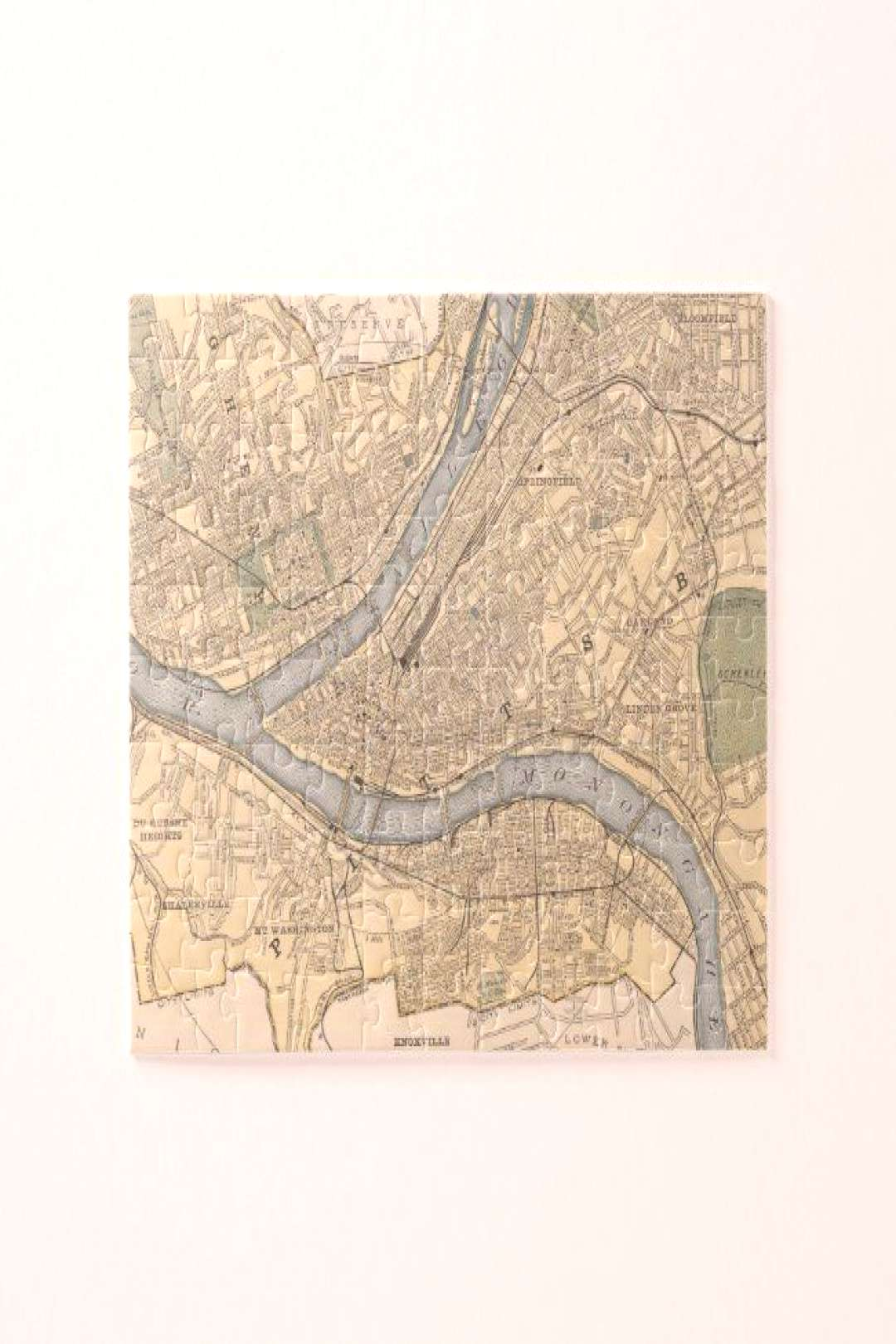 Vintage Map of Pittsburgh PA (1891) Jigsaw Puzzle