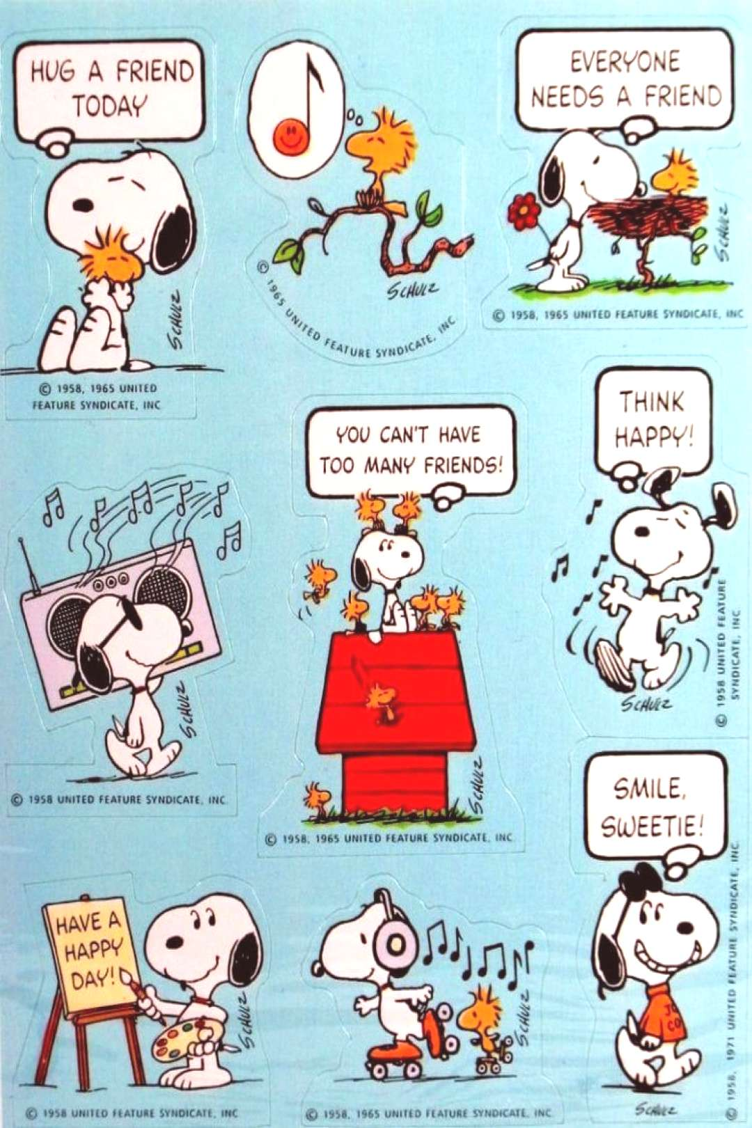 Vintage Peanuts & Snoopy sticker sheets ('70s & '80s) -