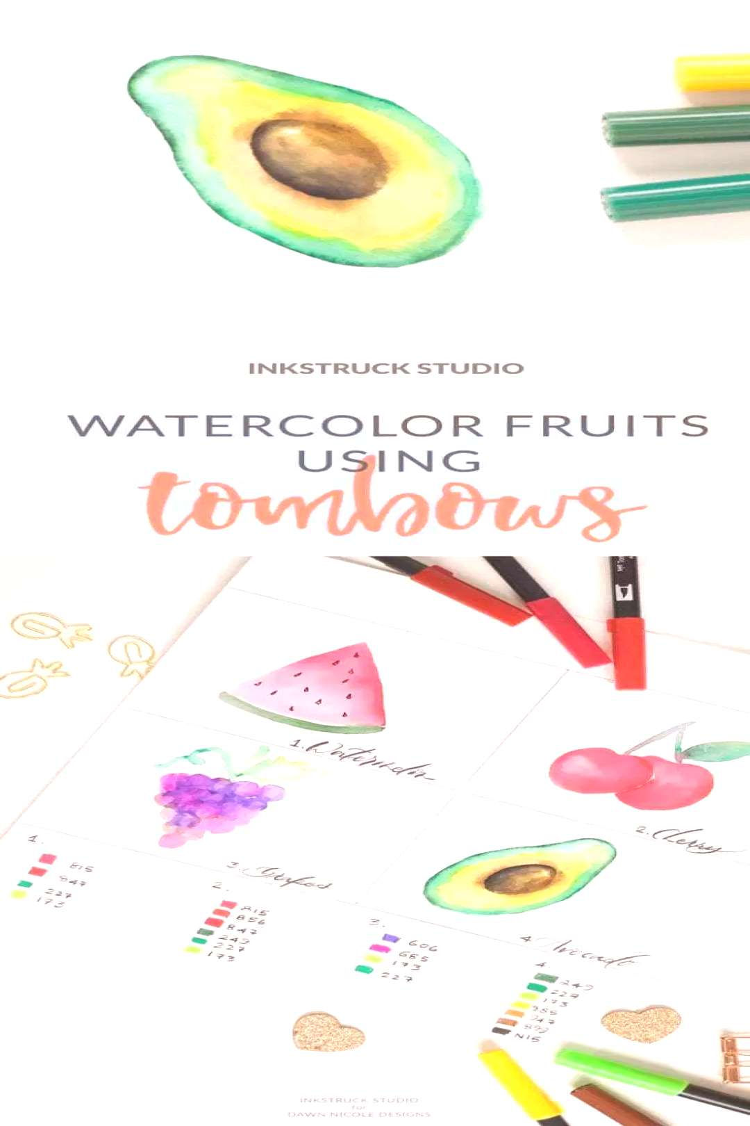 Watercolor Fruit Tutorial using Tombow Brush Pens Watercolor Fruit Tutorial using Tombow Brush Pens