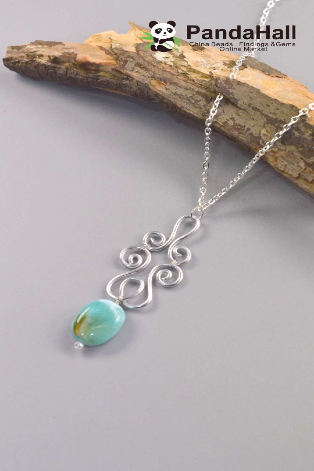 Wire Winding Pendant Necklace